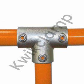 "Kwikclamp 104 Series, heavy duty ""T"" galv connector fittings, D48 (40NB)"
