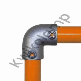 Kwikclamp 125 Series, 90 degree corner galv connector fittings