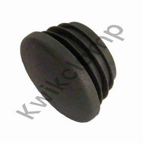 Kwikclamp 133 Series, black plastic end cap