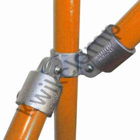 Kwikclamp 168 Series, post to rail adjustable connector assembly, 90 degree
