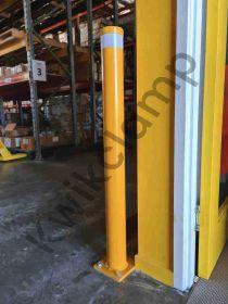 Safety Bollard - 90mm diam x 900mm high, safety yellow powder coated