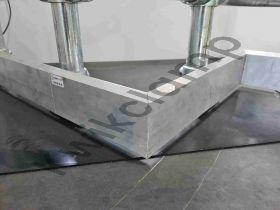 Kwikclamp Kickplate, aluminium external corner