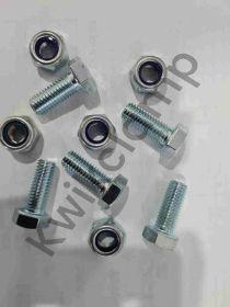 M10 x 25 hex head bolt, nyloc nut