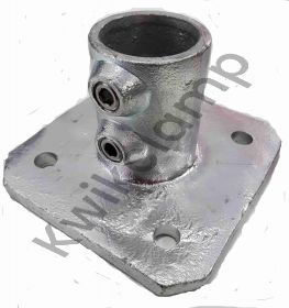 Kwikclamp 233 Series, D48 (40NB) extra heavy galv duty flange, square base