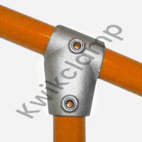 Kwikclamp 253 Series, D48 (40NB) extra heavy galv short TEE, 11-30 degree