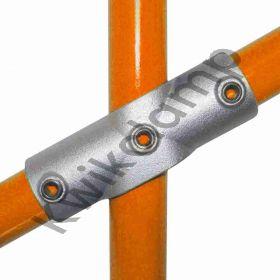 Kwikclamp 256 Series, D48 (40NB) extra heavy galv long CROSS, 11-30 degree