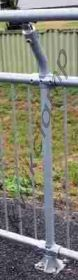 Galvanised Pipe Cranked Top Posts