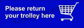 Trolley bay return sign, double bay