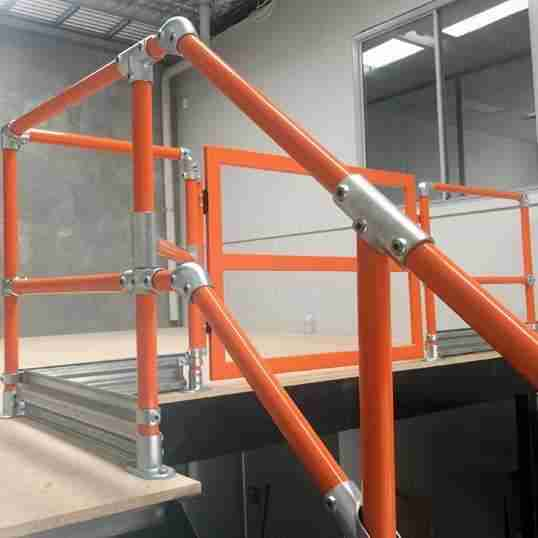 Mezzanine Safety Handrail